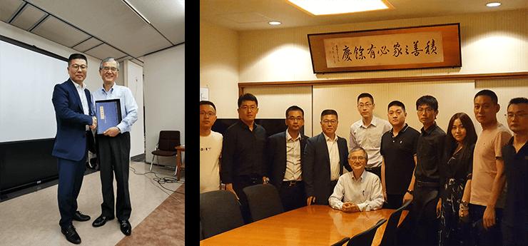 6月20日午前、塚喜グループ本社を訪ね、第4代社長をはじめとする方々と家族企業の伝承と運営について交流を行った